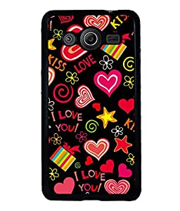 printtech I Love You Heart Gift Back Case Cover for Samsung Galaxy Core i8262::Samsung Galaxy Core i8260