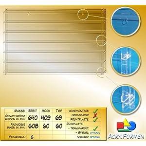 Setzkasten für Modelleisenbahn Spur TT aus Acrylglas SL021 Rückwand Transparent