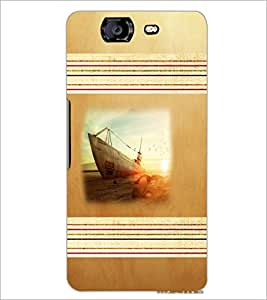 PrintDhaba Ship D-5956 Back Case Cover for MICROMAX A350 CANVAS KNIGHT (Multi-Coloured)