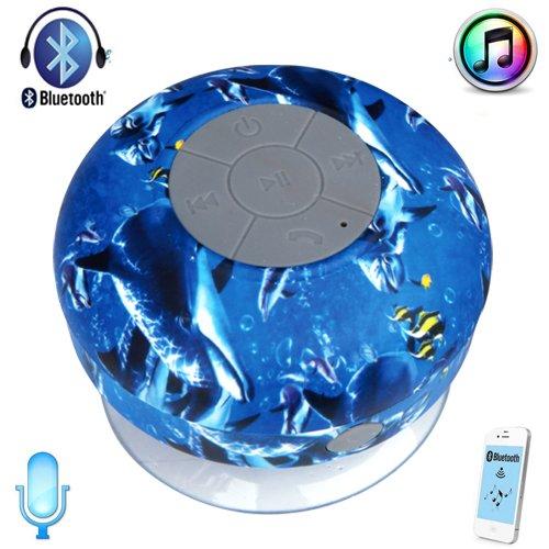 Happyhomestation Waterproof Bluetooth Wireless Shower Speaker Portable Speakerphone (Ocean)