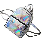 GBSELL Women Girl Fashion Sparkle Backpacks Schoolbags Travel Shoulder Bag (Silver)