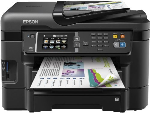 Epson WorkForce WF-3640DTWF Stampante Multifunzione a Getto d'Inchiostro, Nero