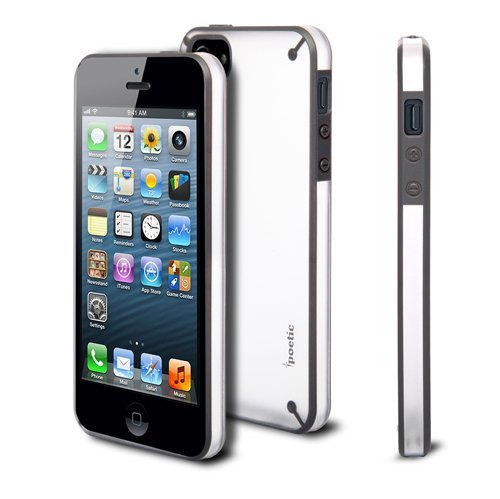 Poetic Atmosphere Case for Apple iPhone 5 / iPhone 5S (AT&T, T-Mobile, Sprint, Verizon) (Clear/Gray) Picture