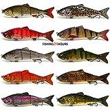 4-Multi-Jointed-Fishing-Hard-Bait-Lure-Life-like-Minnow-Bass-Pike-NEW