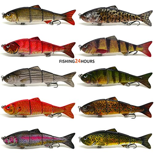 4-Multi-Jointed-Fishing-Hard-Bait-Lure-Life-like-Minnow-Bass-Pike-NEW