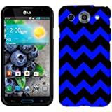 LG Optimus G PRO Chevron Blue and Black Phone Case Cover