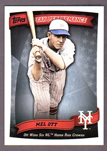 Mel Ott 2010 Topps (Peak Performance) *Ott Wins Six NL Home Run Crowns* (Giants) (Win Peaks compare prices)