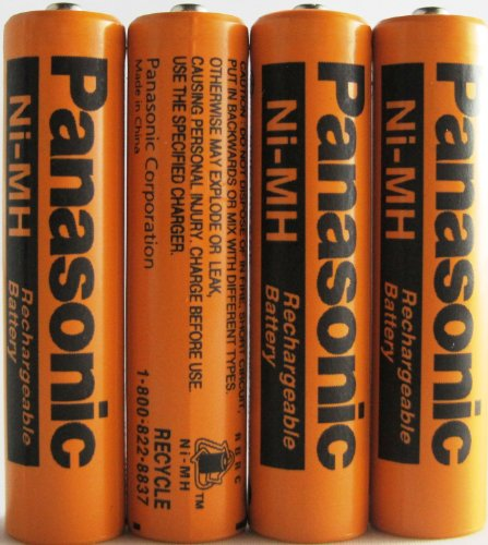 4 Pack Panasonic Nimh Aaa Rechargeable Battery For Cordless Phones front-56804