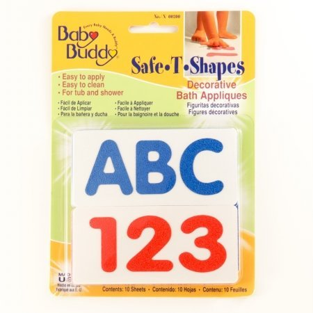 Baby Buddy Bb Safe-T-Shapes Bath Tub Appliques - Abc123 front-360154