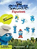 """2011 THE SMURFS MOVIE 1.5"""" INCH FIGURINES SET OF 7 FIGURES"""