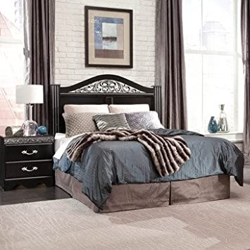 Standard Furniture Odessa Black 2 Piece Headboard Bedroom Set in Black