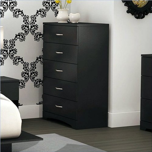Review Of South Shore Furniture Step One Collection 5-Drawer Chest, Pure Black