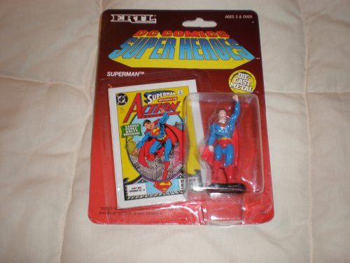 Buy Low Price ERTL DC Comics Super Heroes Superman Raised Fist Die Cast Metal Figure (B001BZM0C4)
