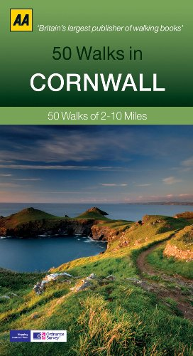 AA 50 Walks in Cornwall: 50 Walks of 2-10 Miles