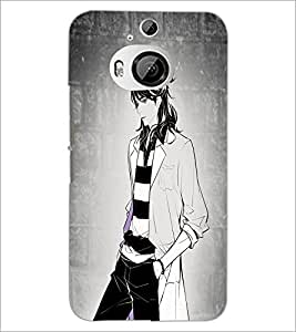 PrintDhaba Tom Girl D-6070 Back Case Cover for HTC ONE M9 PLUS (Multi-Coloured)