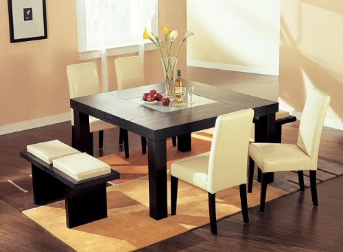 Brilliant Modern Wenge Wood Dining Set