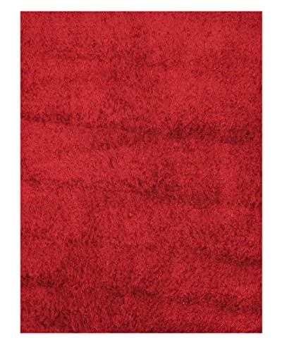 "Hand-Knotted Casablanca Retro Shag, Red, 6' 7"" x 6' 7"""