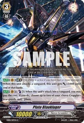 Cardfight!! Vanguard Tcg - Pluto Blaukluger (Eb08/017) - Extra Booster Pack 8: Champions Of The Cosmos front-1050182