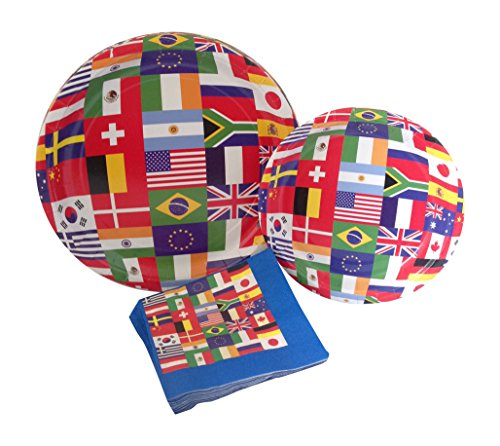 international-world-flags-party-supply-pack-bundle-includes-paper-plates-napkins-for-8-guests