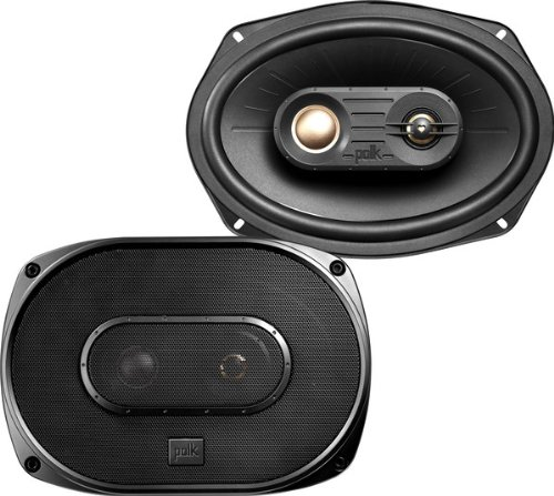 "Polk Audio - 6"" X 9"" 3-Way Coaxial Speakers With Polymer-Composite Cones (Pair)"