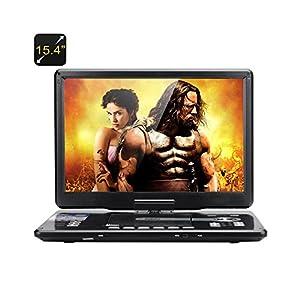 Lecteur dvd portable 15,4 pouce Résolution 1366x768 DVD, jeux, télévision, radio, fonction de copie
