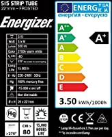 LED 221mm 3.5W = 30 Watt Strip Light Tubular Lamp Frosted Warm White S15 Cap by Energizer