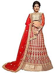 Silvermoon women's Net Embroidered heavy lehenga choli-sm_MIRNA81_Red_free size