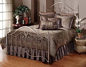 Hillsdale Furniture 1383BFR Doheny Bed Set with Rails, Full, Antique Pewter