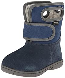 Bogs Outdoor Boots Boys Baby Velcro Suede 9 Child Navy 71610I
