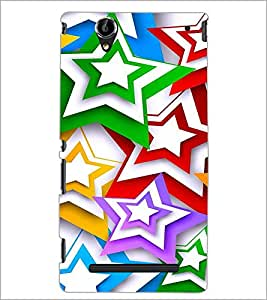 PrintDhaba Digital Flower D-2117 Back Case Cover for SONY XPERIA T2 ULTRA (Multi-Coloured)