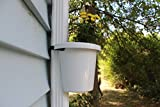 "Hugger - Downspout Flower Pot and Planter That Attaches to Rain Pipe, Fastening Strap Included, Various Colors, approx 7""w x 6"" x 7"" (White)"