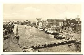 1930s Vintage Postcard Skeppsbron - Ship's Bridge - Malmo Sweden