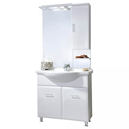 Mobile bathroom vanity 105 White Glossy TFT Home Furniture