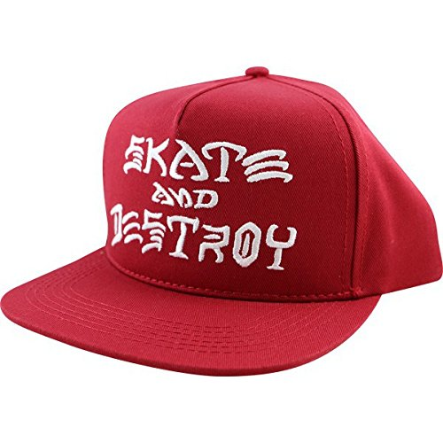 Thrasher Skate and Destroy Snapback [Blood Red] (Thrasher Magazine Cap compare prices)