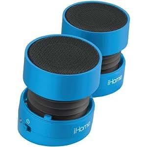 iHome iHM78LX Rechargeable Mini Speakers (Blue)
