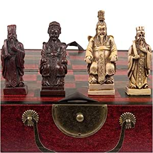 Vintage Style Chess Set W Chinese Xian