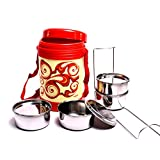 4 Container Milton Insulated Hot Lunch Pack Tiffin Dabba Box Home Picnic -14