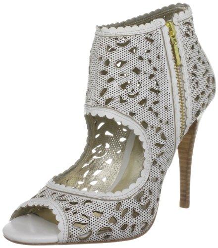 Bourne Women's Lena White Booties Heels L08922 7 UK
