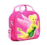 Disney Fairies Tinkerbell Lunch Box Carry Bag with Shoulder Strap and Water Bottle
