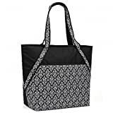 Super Sachi Hot/Cold 50-Can Insulated Cooler Tote Bag Leak-Proof Picnic Black