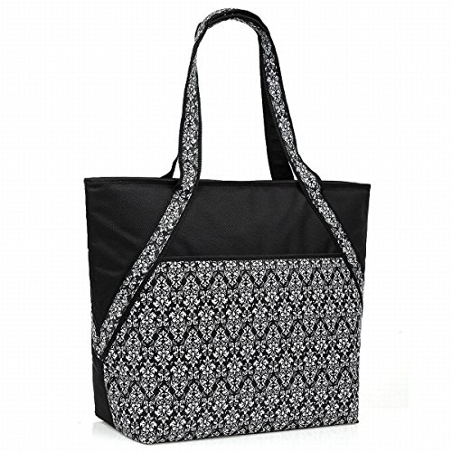 Cheapest Prices! Super Sachi Hot/Cold 50-Can Insulated Cooler Tote Bag Leak-Proof Picnic Black