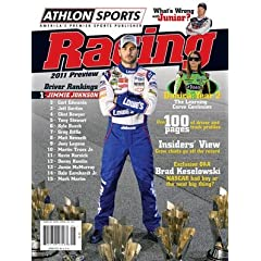 Athlon Sports 2011 NASCAR Racing Preview Magazine- Jimmie Johnson Cover by Hall of Fame Memorabilia
