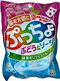 味覚糖 ぷっちょ袋ぶどう&ソーダ 100g×6個