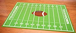 Kids Sports Football Field Area Rug Actual Size 4\'5x6\'9