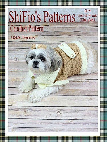 Crochet Pattern - CP179 - Dog Coat - Small Medium Large Extra-large - USA Terminology