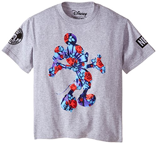 Neff Big Boys' Youth Mickey Perennial T-Shirt, Athletic Heather, X-Large (Disney Shirts Tie Dye compare prices)