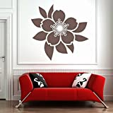DeStudio Petals Flower Flowers Wall Decal (Size TINY - 43cms X 43cms & Color YELLOW)