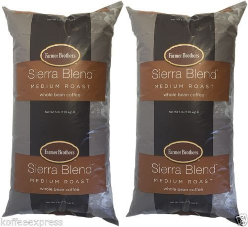 Farmer Brothers Sierra Blend Medium Roast Whole Bean Coffee (2 bag/5 lbs) (Farmer Brothers Coffee Makers compare prices)