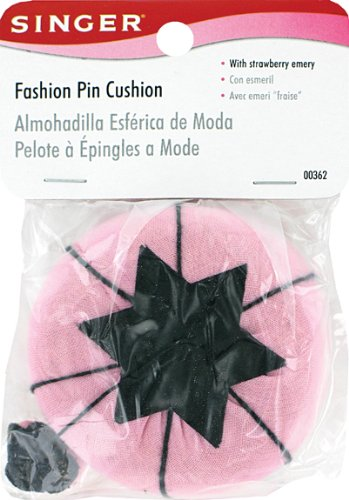Read About Singer Fashion Pin Cushion with Strawberry Emery
