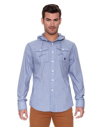 New Caro Camicia con Cappuccio [Blu]